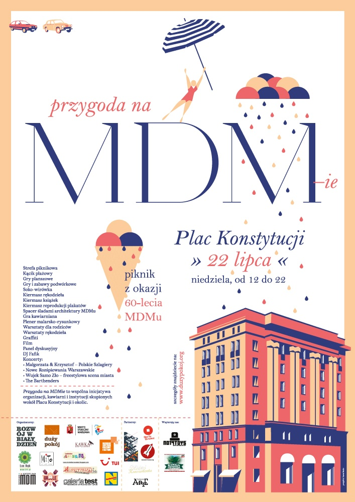 """""""przygoda na MDM-ie"""", plakat urodzinowy"""