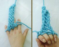 """finger """"French Knitting"""""""