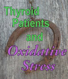 The importance of Vitamin C, E and Selenium with Hypothyroidism. http://www.stopthethyroidmadness.com/2013/08/17/oxidative-stress/?utm_source=feedburner_medium=email_campaign=Feed%3A+StopTheThyroidMadness+%28Stop+The+Thyroid+Madness+Blog+Newsletter%2920130817_151332