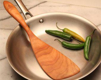 Handmade wooden spatula kitchen utensil for flipping your flapjacks