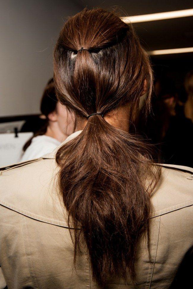 La queue de cheval double : la coiffure nouveau genre /// aufeminin.ca