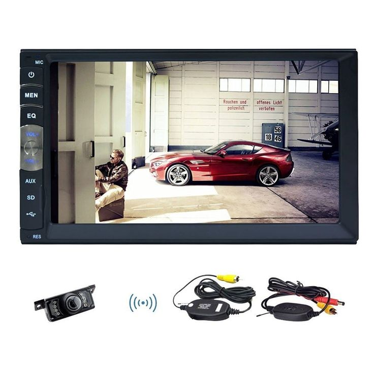 89.97$  Buy now - http://alik91.worldwells.pw/go.php?t=32722105780 - 7'' HD Touch Screen Car Video Player Bluetooth Stereo Radio FM/MP5/MP4/MP3/Audio/ USB Auto Electronics In Dash +Free rear camera