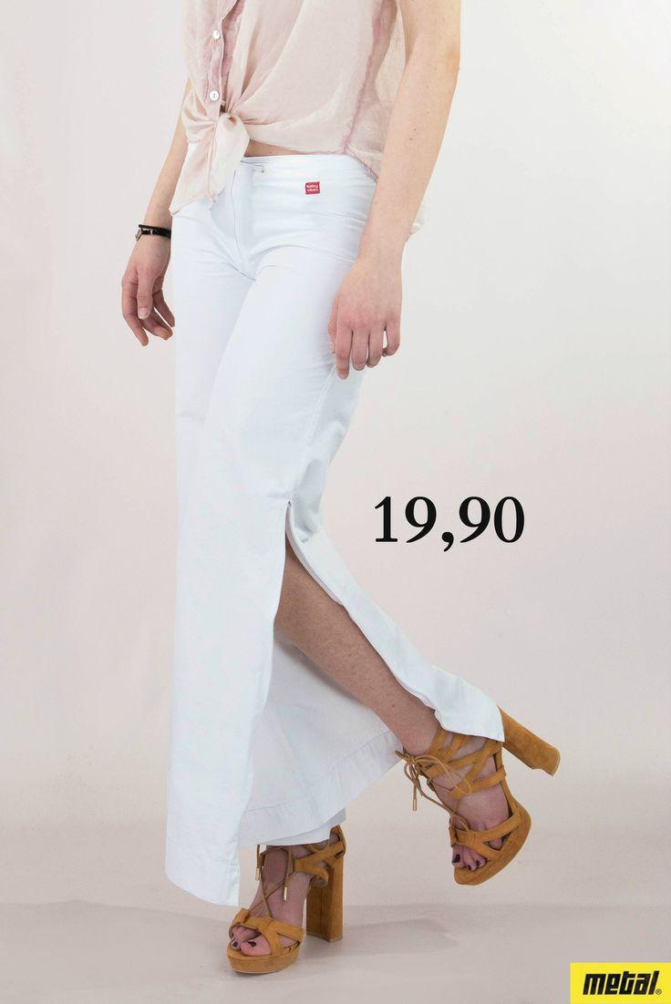Γυναικείο παντελόνι καμπάνα με φερμουάρ PANT-5317e