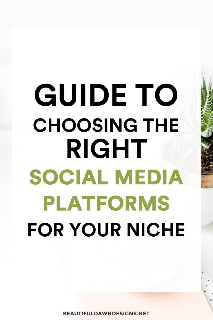Advice for choosing the best social media platforms for your niche. Blogging tips | Social media tips via @tiffany_griffin