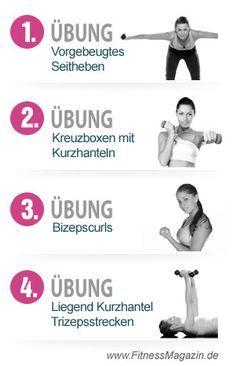 4 Übungen für schöne, straffe Arme
