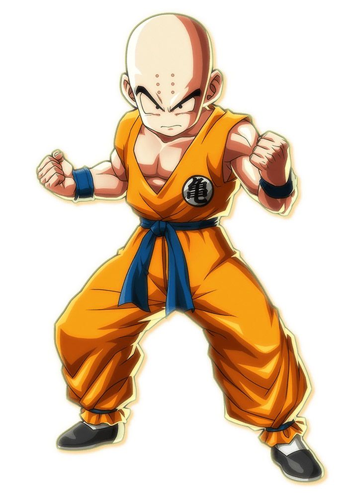 Krillin From Dragon Ball Fighterz Character Design Dragon Ball