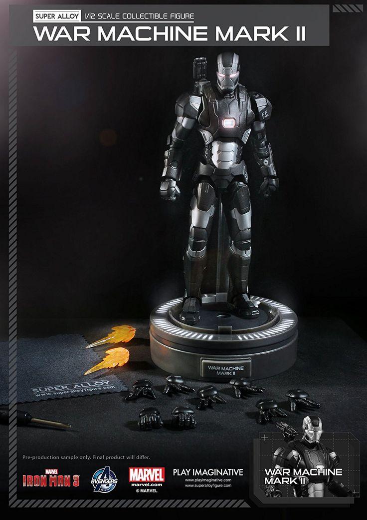 "Play Imaginative War Machine MK II ""Iron Man 3"" Action Figure (1/12 Scale)"