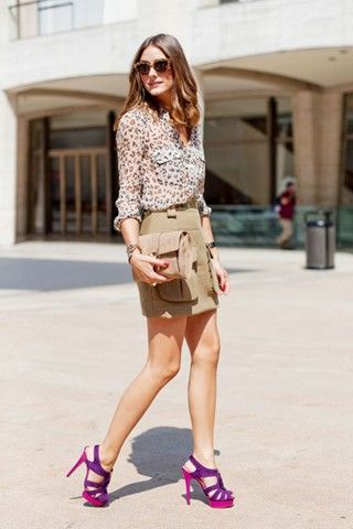 shoes: Oliviapalermo, Fashion Style, Color, Safari Chic, Fashion Week, Outfit, Lady Fashion, New York Fashion, Olivia Palermo