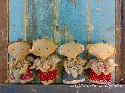 Малютки голубых кровей - интерьерная кукла,примитив,интерьерная игрушка