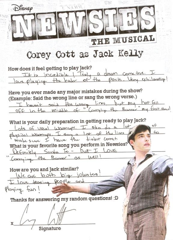 I have an obsession with anyone who has ever played Jack actually. Corey Cott <--- Isn't he lovely? Yes. The answer is yes.
