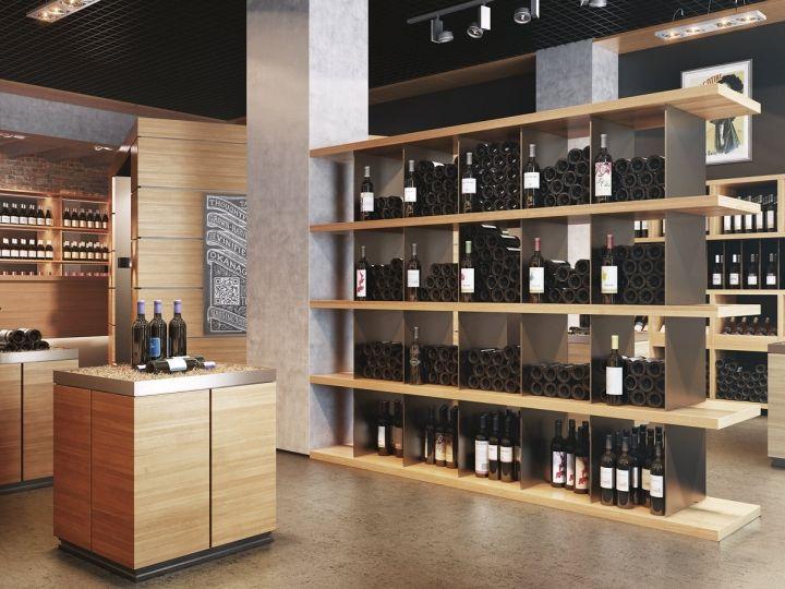 Внутренний дизайн винного магазина Viarde