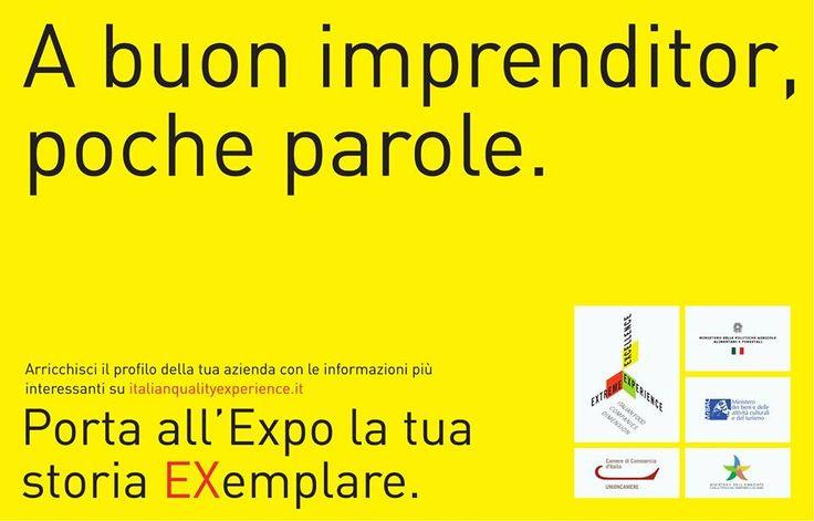 Lavori nell'agroalimentare italiano? Porta all'Expo la tua storia registrandoti su www.italianqualityexperience.it !
