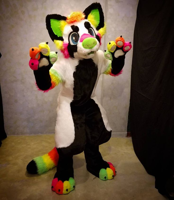 "raccoonrat: "" A Neon Red Panda! Available for sale at our @lemonbrat booth at…"