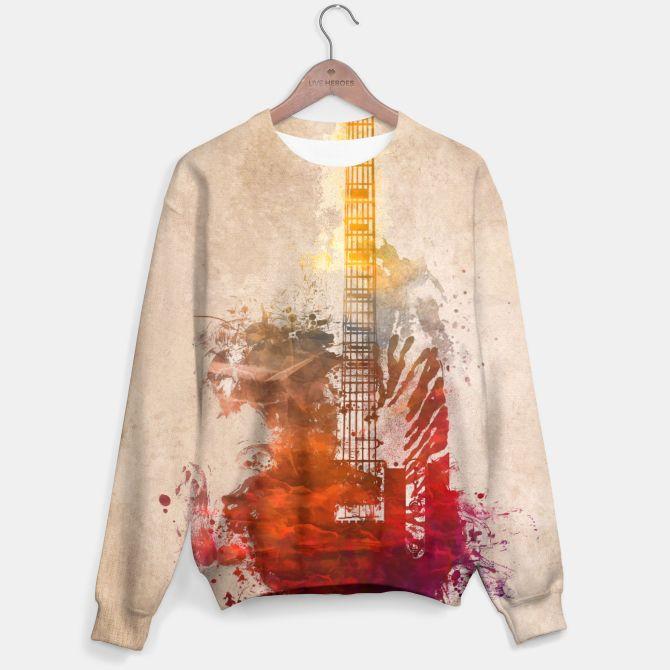 red guitar Bluza
