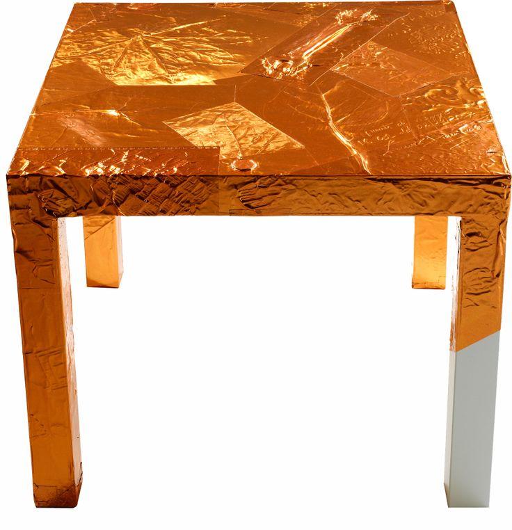 APPUNTI DI VIAGGIO - Tavolino in foglio di rame; Design: Lorenzo Damiani