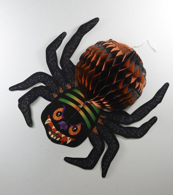vintage spider decoration halloween decoration wall dcor wall hangings paper decoration cardboard banners and signs