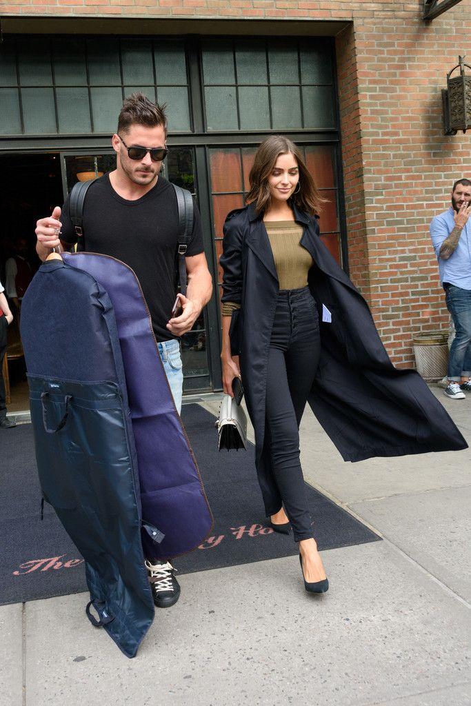 Danny Amendola Photos Photos - Danny Amendola and Olivia Culpo are seen leaving The Bowery on May 1, 2017. - Olivia Culpo Leaves Her Hotel