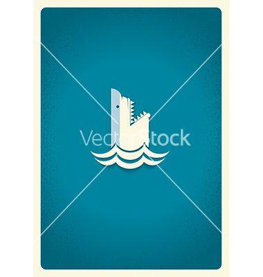 Shark logo blue symbol vector 3030726 - by GeraKTV on VectorStock®