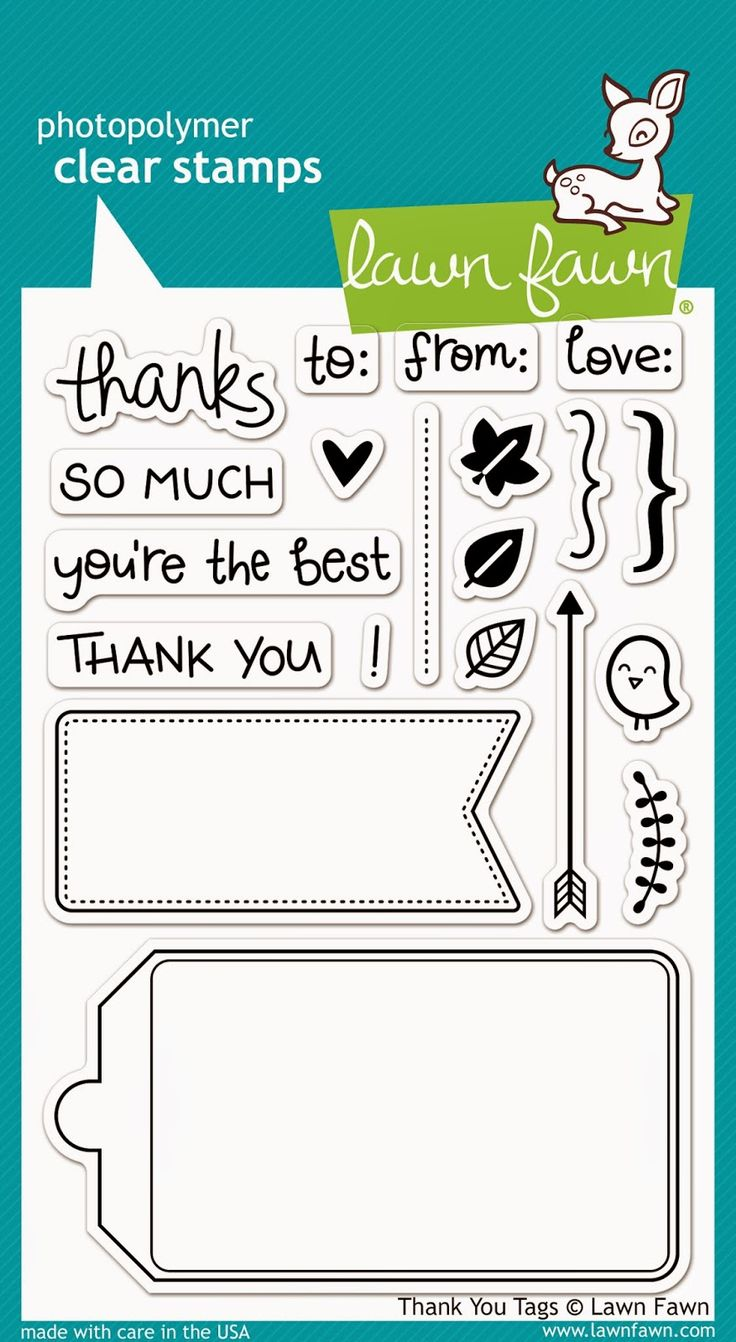thank tag stamp set from lawn fawn