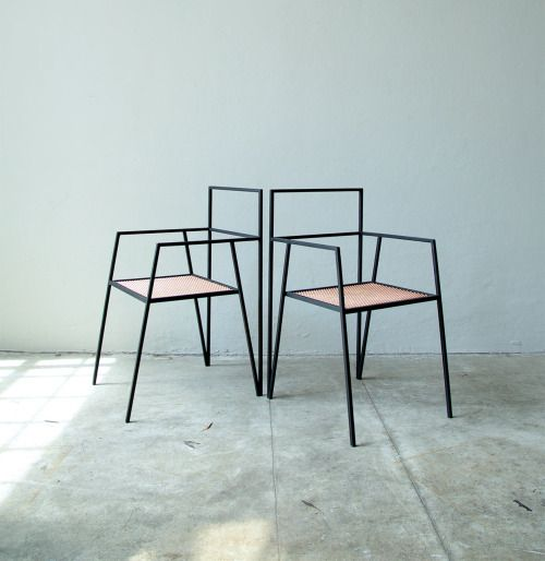 U201cArgentinian Architecture Has Designed A Collection Of Minimal Furniture  Based Around Simple Steel Frames. The Alpina Range Includes A Chair,u2026u201d