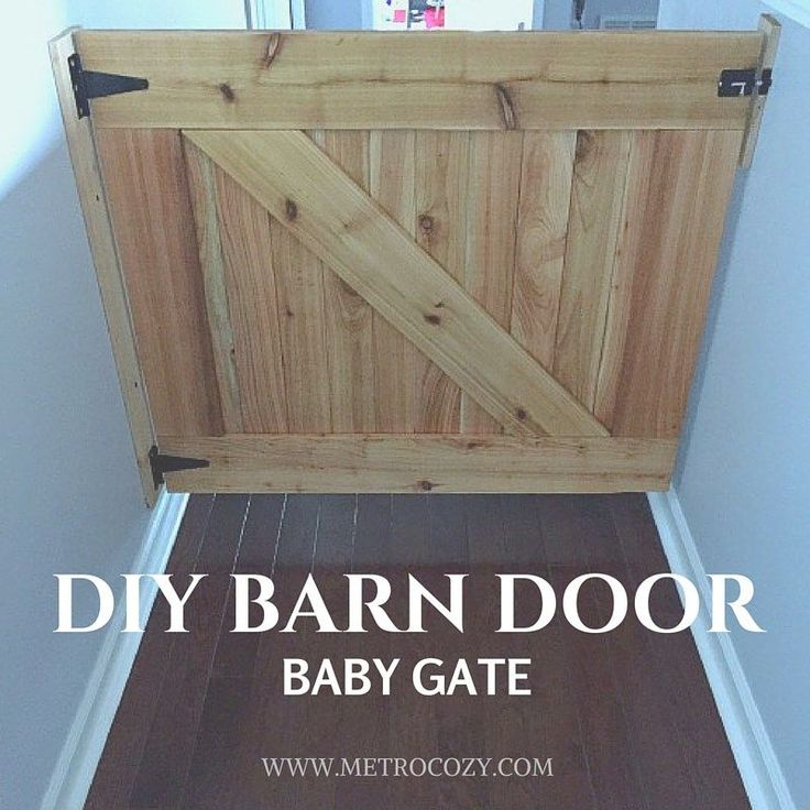 DIY Barn Door Baby Gate :http://metrocozy.com/diy-barn-door-baby-gate/