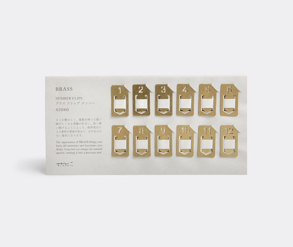 Numbered clips by Midori
