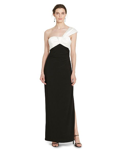 One-Shoulder Gown - Lauren Evening - RalphLauren.com