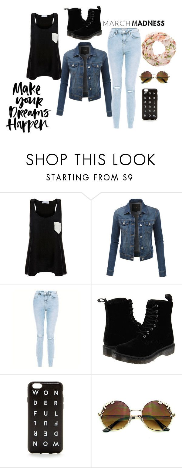 """""""As a simple song"""" by love666x on Polyvore featuring moda, Solid & Striped, LE3NO, Dr. Martens y J.Crew"""