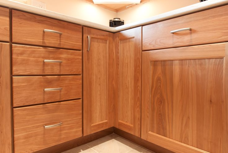 Custom Kitchen With Natural Red Birch Cabinets Birch