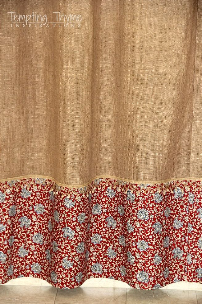 Easy No Sew Burlap Shower Curtain In 2018