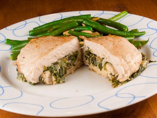 Stuffed Pork Chops with Ricotta and Spinach