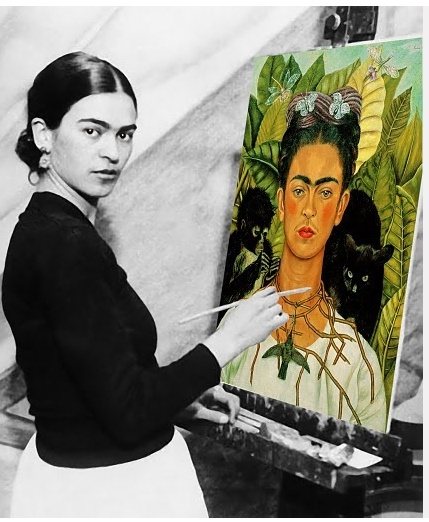 """""""I paint self-portraits because I am so often alone, because I am the person I know best. """" Frida Kahlo"""