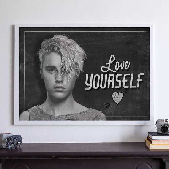 Justin Bieber Love Yourself Chalkboard Girls by OakTreeCraft