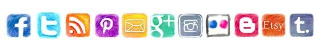 Social Media Icons voor op blog (HTML)