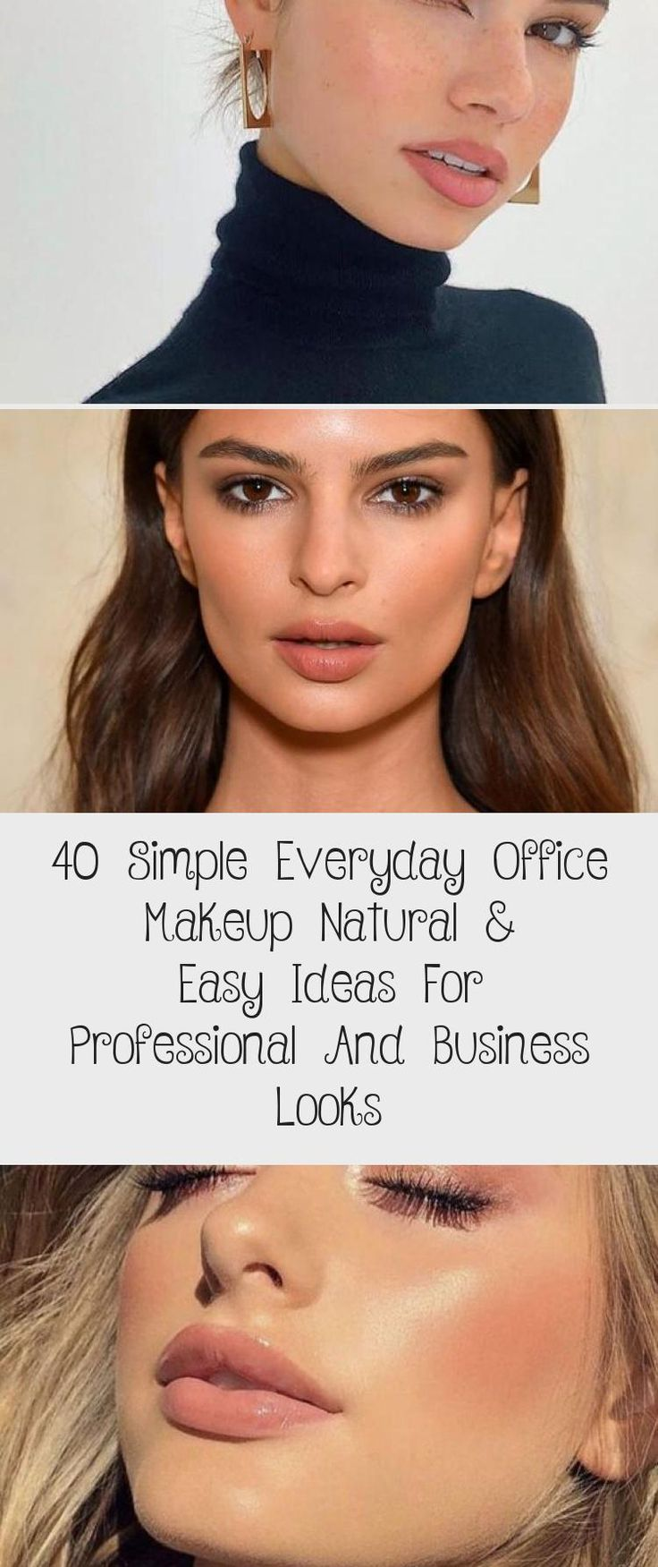 40 Simple Everyday Office Makeup Natural & Easy Ideas For
