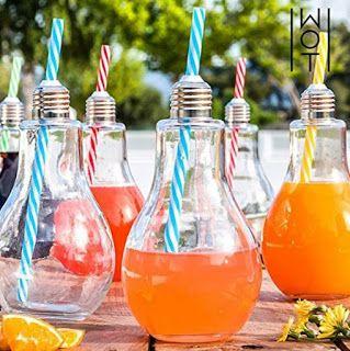 Idee carine per servire l'aperitivo quest'estate. Il trend del drink in lampadina.