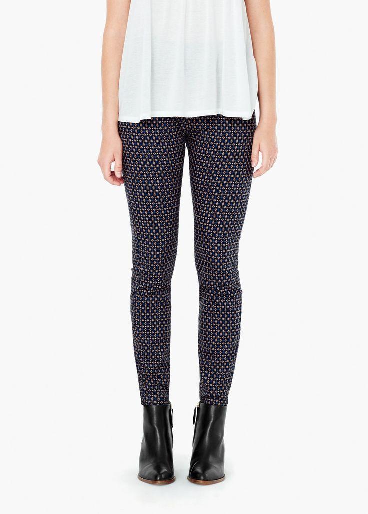 Pantaloni din bumbac imprimați -  Femei | MANGO