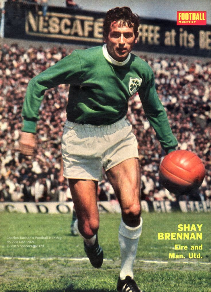 Shay Brennan from Charles Buchan's Football Monthly Man Utd & Ireland