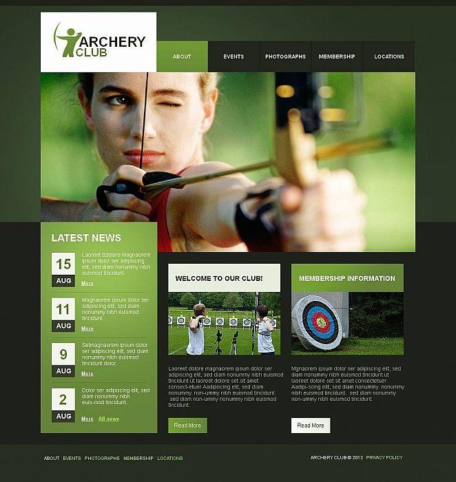 Archery Moto Cms Html Template 46403 Html Templates Archery Club Templates