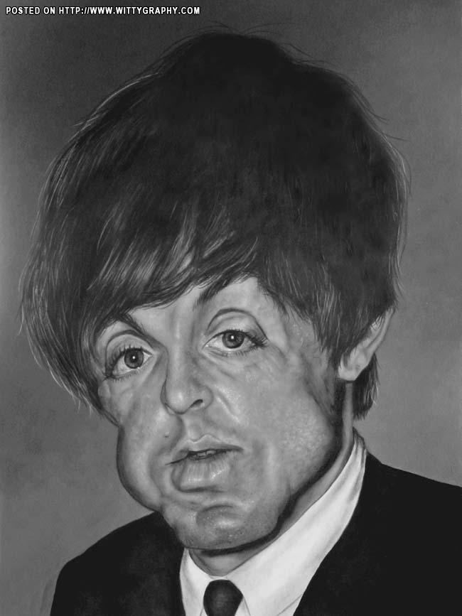 Caricaturas by Daniel Alho / Paul McCartney of The Beatles
