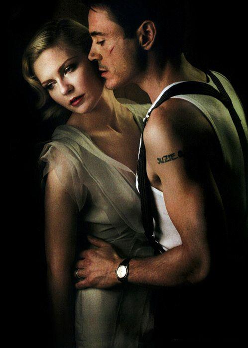 close up on Kirsten Dunst and Robert Downey Jr. by Annie Leibovitz #Leibovitz