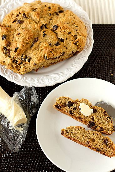 Irish Whiskey Soda Bread with Irish Whiskey Butter. Perfect side to your St. Patricks Day Feast!