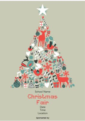 LOVE this Christmas fair poster... http://www.ptaprintshop.co.uk/p/119/christmas-poster-8