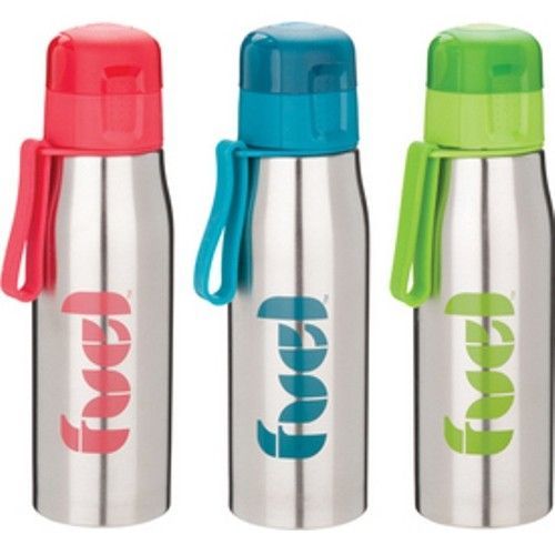 DRINK BOTTLE 500ml Stainless Steel Container Lunch Recess Picnic Flip BPA FREE