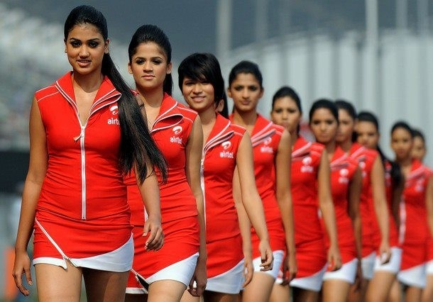 #Airtel Grid Girls at #Formula 1 #Indian grand prix 2012
