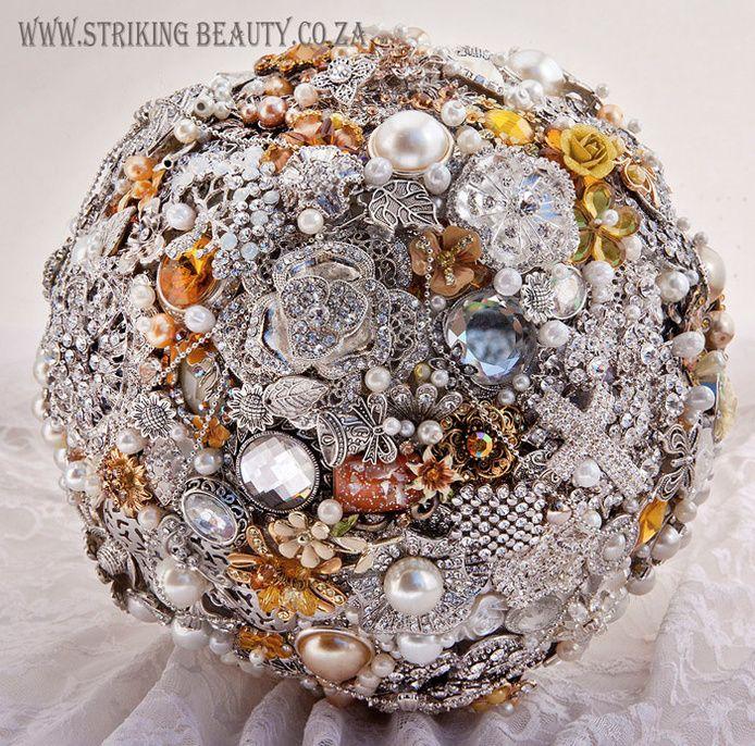 Striking Beauty Brooch Bouquets - Durban Wedding Accessories, Wedding Jewellery