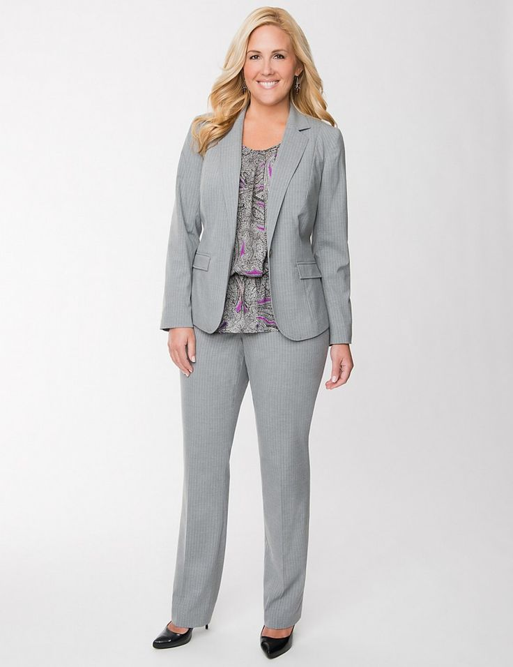 Newest Gray Plus Size Suites Ideas For Office Going Ladies