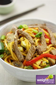 Thai Chilli Beef Stir Fry. #HealthyRecipes #DietRecipes #WeightLossRecipes weightloss.com.au