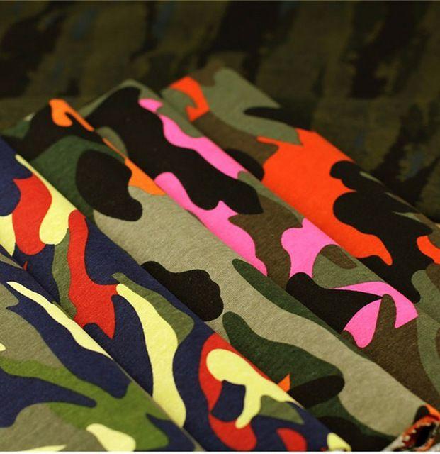 Ancho 1.4 m * longitud 1 m, 97% cottpn + 3% Spandex. tela de Camuflaje militar ropa de entrenamiento ropa pantalones de tela DIY Vestido de 186
