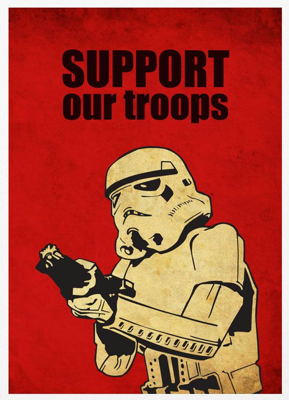 Star Wars - Support Our Troops A3 Poster Vintage Print. $18.00, via Etsy.